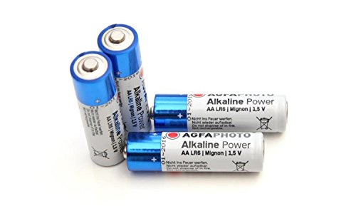 Piles alcalines AA Agfa Digital Extreme Power 1,5 V 2750 mAh (Import Allemagne)