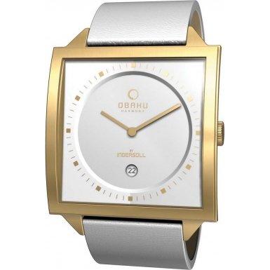 Obaku Harmony V116U GIRW - Reloj unisex de cuarzo, correa de piel color blanco