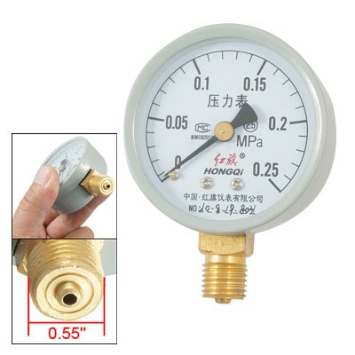 0.25 Mpa Round Dial Threaded Pressure Gauge Manometer front-40858