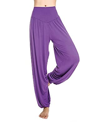 Little Hand Women's Modal Yoga Harem Pants Belly Dance Fitness Pilates Trousers