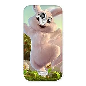 Premium Bunny Funny Back Case Cover for Micromax Canvas HD A116