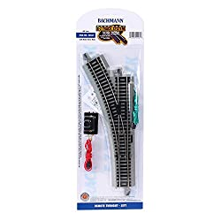 HO Scale Bachmann Trains Snap-Fit E-Z Track Remote Turnout - Left