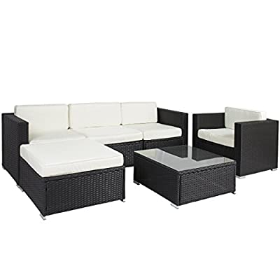 Best ChoiceProducts 6 Piece Outdoor Patio Garden Furniture Wicker Rattan Sofa Set Sectional