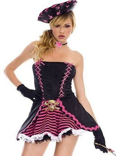 ToBeInStyle Women's Pirate Outfit w/ Accessories