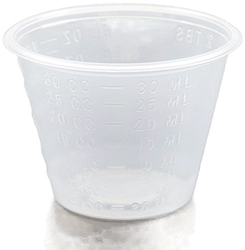 A World Of Deals Non-Sterile Graduated Plastic Medicine Cups, 100 Piece, 1 Ounce each