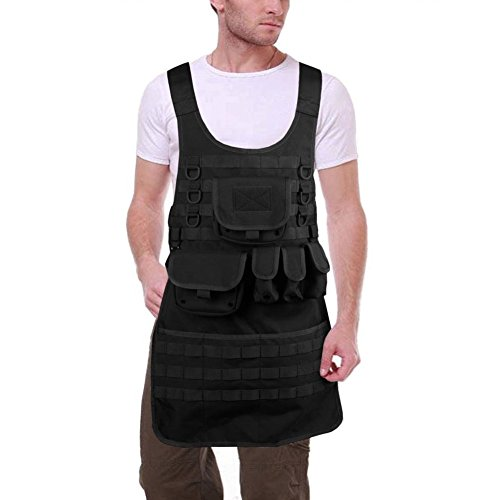OneTigris MOLLE Tactical Apron for Chef and Mechanic (Black)