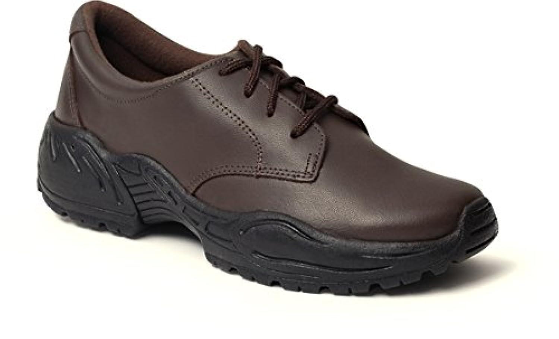 Rocky Women's Plain Toe Work Oxfords,Brown,9 W