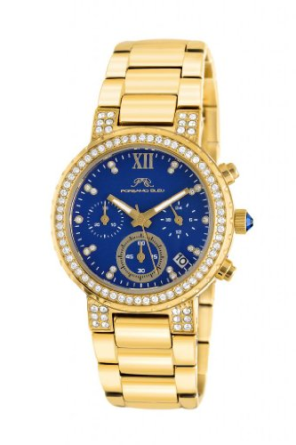 Porsamo Bleu Pilar Stainless Steel Gold Tone & Blue Women's Watch 502BPIS