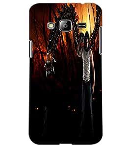 SAMSUNG GALAXY J3 DEVIL Back Cover by PRINTSWAG