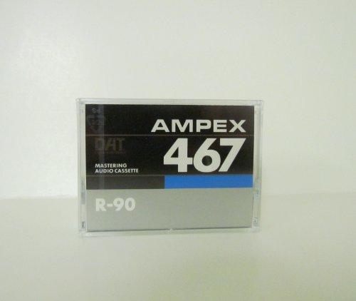 AMPEX 467 R-94 Certified Mastering Audio DAT Tape Cassette in 2 Lot (2 tapes)