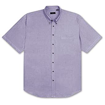 Cotton traders big and tall short sleeve solid for Big and tall oxford shirts