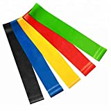 Serenily Resistance Bands, Exercise Band, Latex Resistance Band, Set of 5 Exercise Bands, Resistance Bands Set. Exercise Bands Resistance. Loop Resistance Bands, Leg Resistance Bands. Elastic Bands.