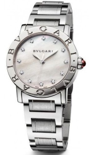 Bvlgari Bvlgari Mother of Pearl Diamond Dial Stainless Steel Automatic Ladies Watch BBL33WSS-12