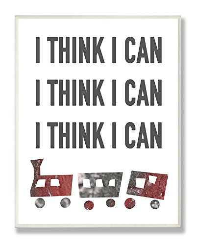 The Kids Room by Stupell I Think I Can Train Typography Rectangle Wall Plaque