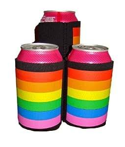 Gay Rainbow Sisters Koozie Gay Pride Can Cooler