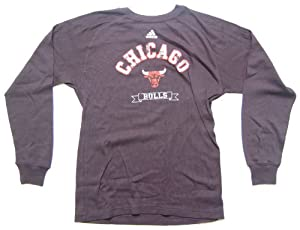 Adidas Chicago Bulls Youth Long Sleeve Vintage Thermal Logo T-Shirt by adidas