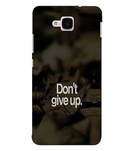 EPICCASE Don't give up Mobile Back Case Cover For Huawei Honor 5c (Designer Case)