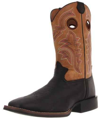 25efe157b The Features Tony Lama Men s RR1107 Boot Black Mustang Tan Yukon 11 5 D US -