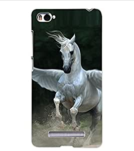 ColourCraft Flying Horse Design Back Case Cover for XIAOMI MI 4I