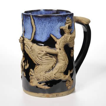Dragon Tankard Mug in Blue Garcia 24 Oz