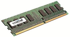 Crucial Dimm Desktop Memory Upgrade (1GB,240-pin,DDR2 PC2-5300,Cl=5,1.8v)