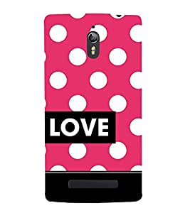 Love Dot Pattern Cute Fashion 3D Hard Polycarbonate Designer Back Case Cover for Oppo Find 7 :: Oppo Find 7 QHD :: Oppo Find 7a :: Oppo Find 7 FullHD :: Oppo Find 7 FHD