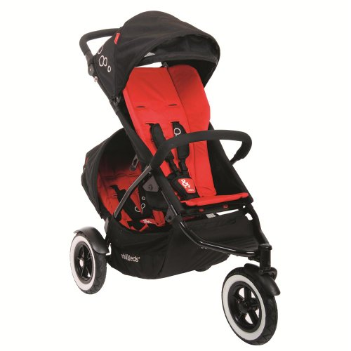 Phil&Teds Dot Stroller And Doubles Kit, Chili front-701439