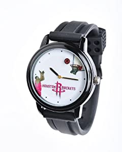 NBA Houston Rockets Shooting Ball Black Watch and Band by Overtime Watch