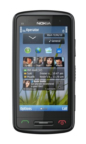 Nokia C6-01 Unlocked GSM Phone with 8 MP Camera, 720p Video Recording, and Ovi Maps Navigation--U.S. Version with Warranty (Black)