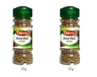 DUCROS - Poivres Herbes Epices - Herbes - Anis Vert - 37 g - lot de 2