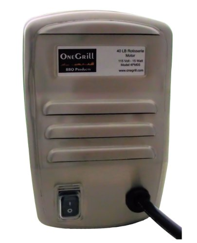 Onegrill Stainless Steel Grill Rotisserie Motor- 40 Lb. Load