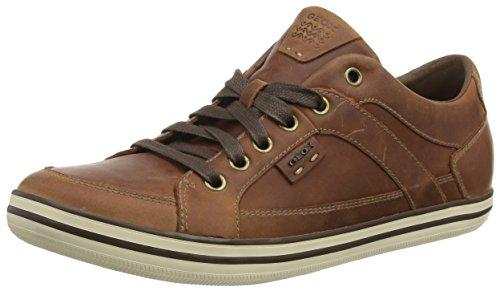 Geox U BOX D, Low-Top Sneaker uomo, Marrone (Braun (C6003BROWNCOTTO)), 43