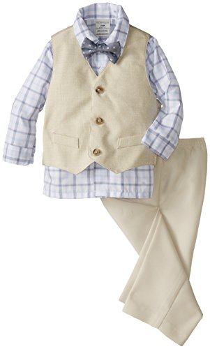 Perry Ellis Baby-Boys Infant Basketweave Vest Set