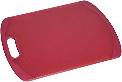 Farberware Non-Slip Poly Cutting Board, 11-Inch-by-14-Inch, Red (Farberware Poly Cutting Board compare prices)