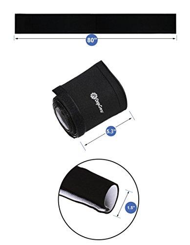 kootek 118 inch velcro cable management neoprene cord cover sleeve wire hider concealer. Black Bedroom Furniture Sets. Home Design Ideas