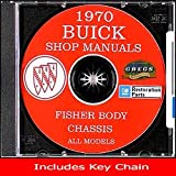 1970 Buick Chassis Shop Repair Service Manual - All Models on CD (Includes Key Chain) deals and discounts