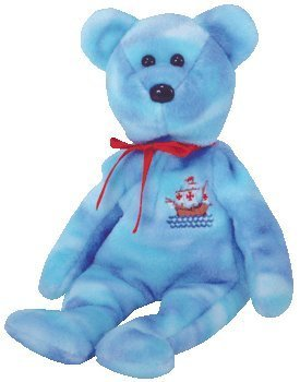 1 X TY Beanie Baby - SANTA MARIA the Bear (Internet Exclusive)