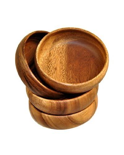 Acaciaware Set of 4 Calabash 6″ Individual Bowls