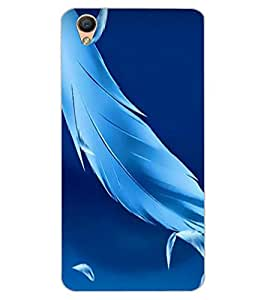 ColourCraft Lovely Feathers Design Back Case Cover for OPPO F1 PLUS