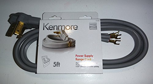 Kenmore 3-prong 5' Round Range Cord (Kenmore Foot compare prices)