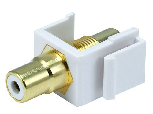 Monoprice 106550 Keystone Jack Modular Rca With White Center, White