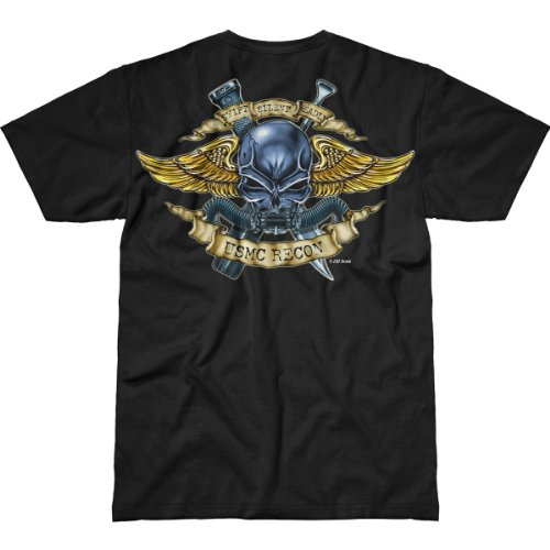 Usmc Recon 'Jack Of All Trades' Black Battlespace Men'S T Shirt 2X