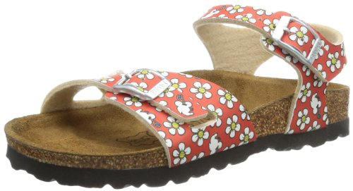 Birki Girls TUVALU BF DD MINNIE Sandals Red Rot (FLOWER PATTERN RED) Size: 37