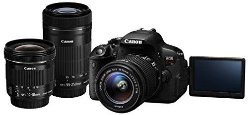 Canon デジタル一眼レフカメラ EOS Kiss X7i トリプルズームキット EF-S10-18mm F4.5-5.6 IS STM EF-S18-55mm F3.5-5.6 IS STM EF-S55-250mm F4-5.6 IS STM付属 KISSX7I-TZOOMKIT