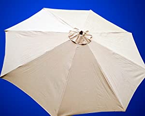 New Market Patio Umbrella Replacement Canopy Canvas Cover 8' 9' 10' 11'