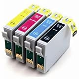 Odyssey Supplies - Compatible ink cartridges for Epson SX425W, Stylus Office BX305F, BX305FW, BX305FW Plus, Stylus S22, SX125, SX130, SX235W, SX420W, SX425W, SX435W, SX438W, SX445W - Latest Version Double Capacity Inks (4 pack)