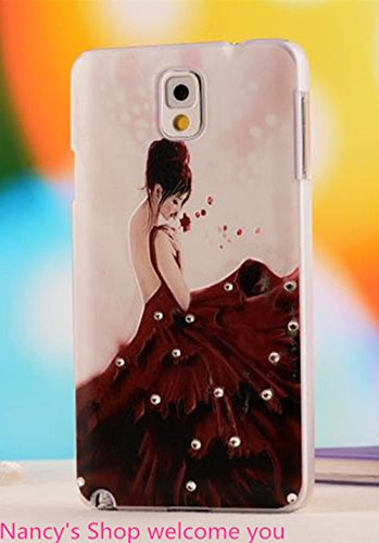 Nancy'S Shop Colorful Painting 3D Hard Cell Phone Accessories Case And Covers For Unlocked Tmobile Samsung Galaxy Note 3 Iii(Women)