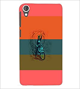 PrintDhaba Bike D-5952 Back Case Cover for HTC DESIRE 820 (Multi-Coloured)