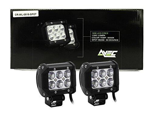 2X 18W Avec Night Lights Premium Performance Led Work Light Light Bars Lamps Suv Pods Spot Lights