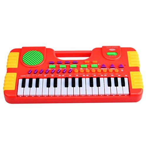 kinder-piano-wolfbush-31-taste-kinder-piano-musikinstrument-keyboard-spielzeug-kinderpiano-rot